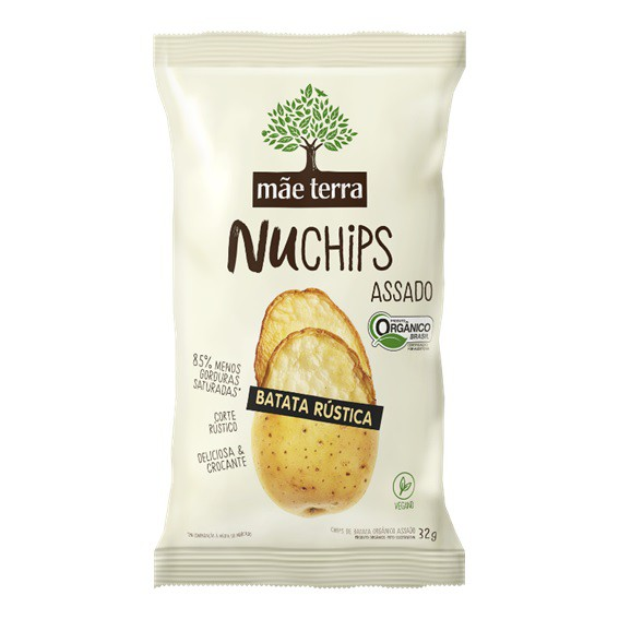 Chips Saudável de Batata Orgânico Nuchips Mãe Terra 32g