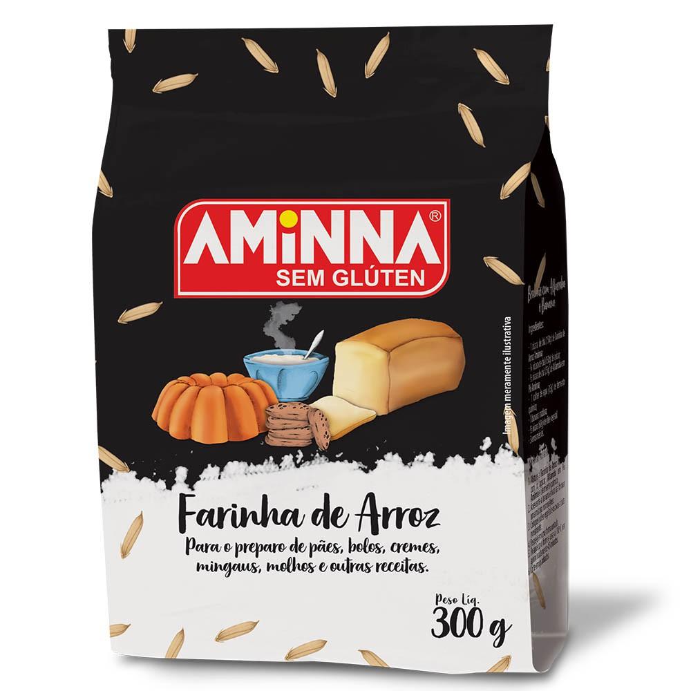 Farinha de Arroz Sem Glúten Sem Lactose Aminna 400g