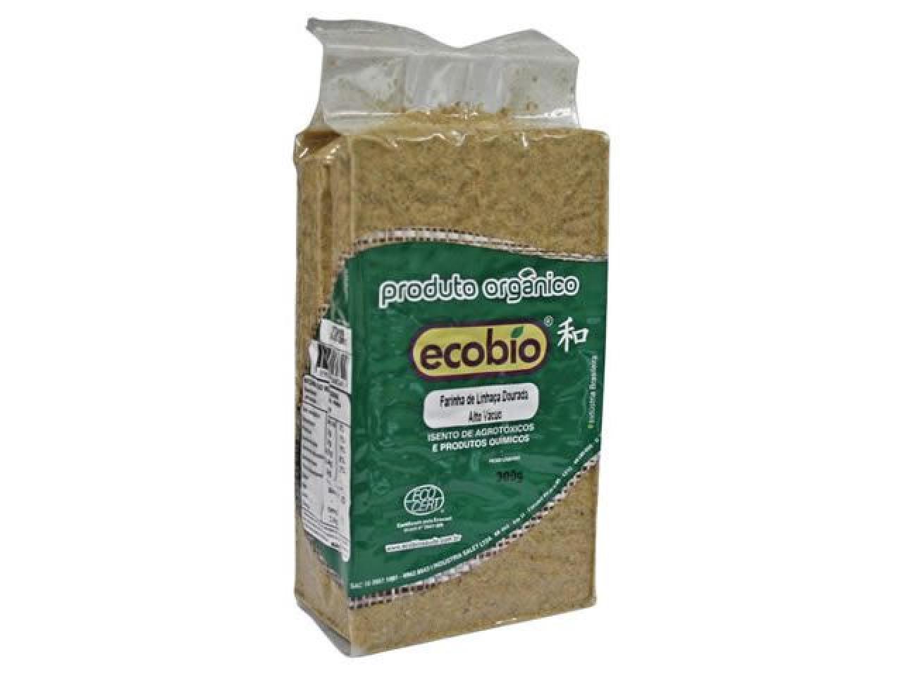 Farinha de Linhaça Dourada Orgânica Ecobio Alto Vácuo 300g