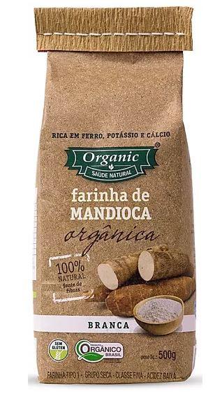 Farinha de Mandioca Branca Orgânica 100% Natural Organic