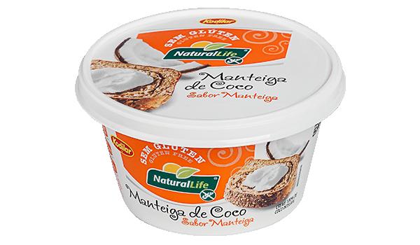 Manteiga de Coco Natural Life Sabor Manteiga Sem glúten