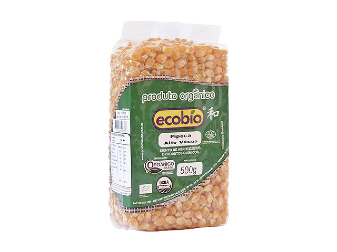 Milho para Pipoca Orgânico Ecobio 500g Não Transgênico