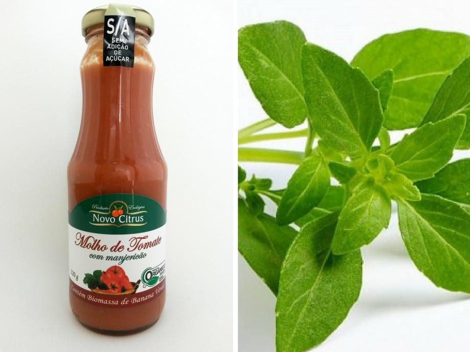 Molho de tomate com Manjericão Orgânico Sem adição de açúcar