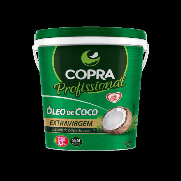 Óleo de Coco Extravirgem Copra Balde 3,2kg Superalimento