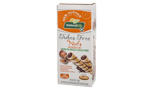 Tubes Free Nuts Creme de Avelã e Cacau S/ Gluten S/ Lactose