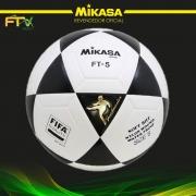 BOLA OFICIAL DE FUTEVÔLEI MIKASA FT-5 - PADRÃO FIFA BRANCA E PRETA