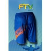 Shorts FTV Basics Azul royal Laranja