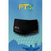 Sunga FTV Basics Preta e Laranja