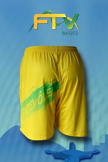 Shorts FTV Basics Amarela
