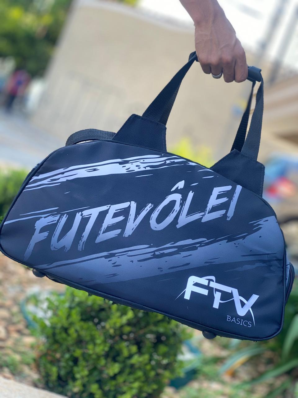 "BOLSA FTV ""PRETA E CINZA """