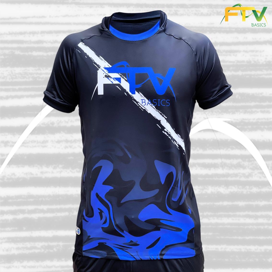 Camiseta FTV Basics 2021 Preto com Azul
