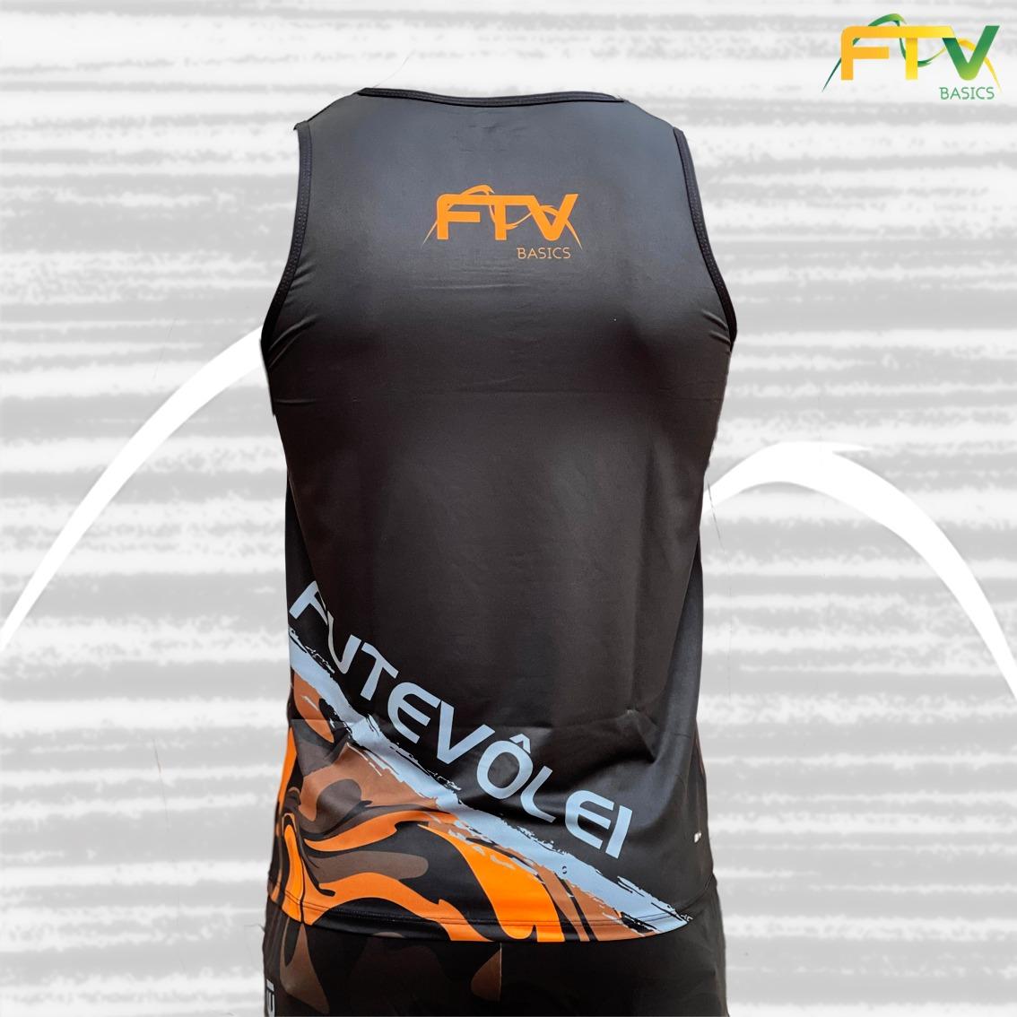 Regata FTV Basics 2021 Preto com Laranja