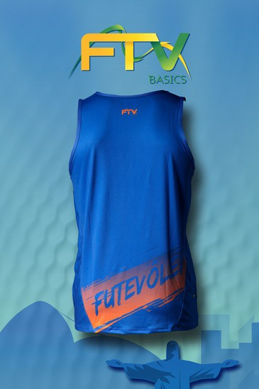 Regata FTV Basics Azul Royal com laranja
