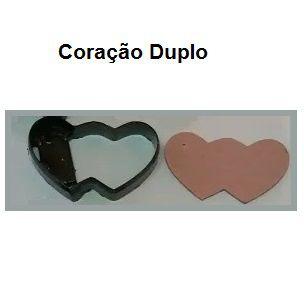 Faca Chaveiro Modelo Coração Duplo