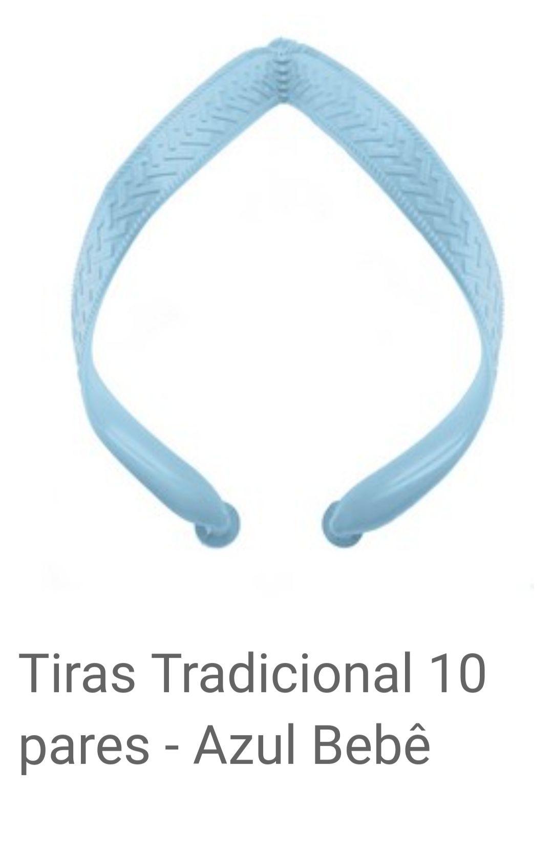 Tiras Tradicional Azul Bebê com 10 pares