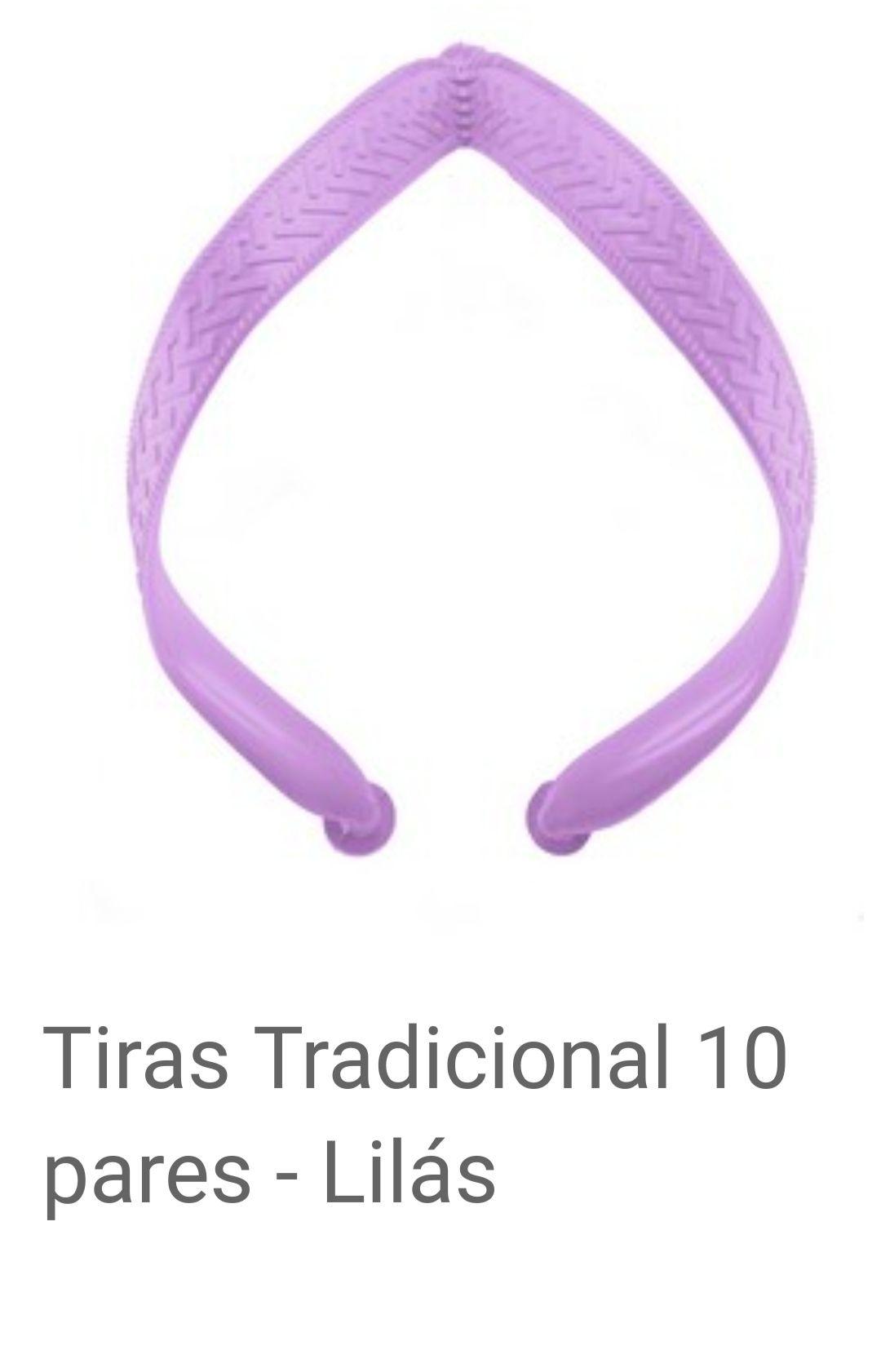 Tiras Tradicional Lilás com 10 pares