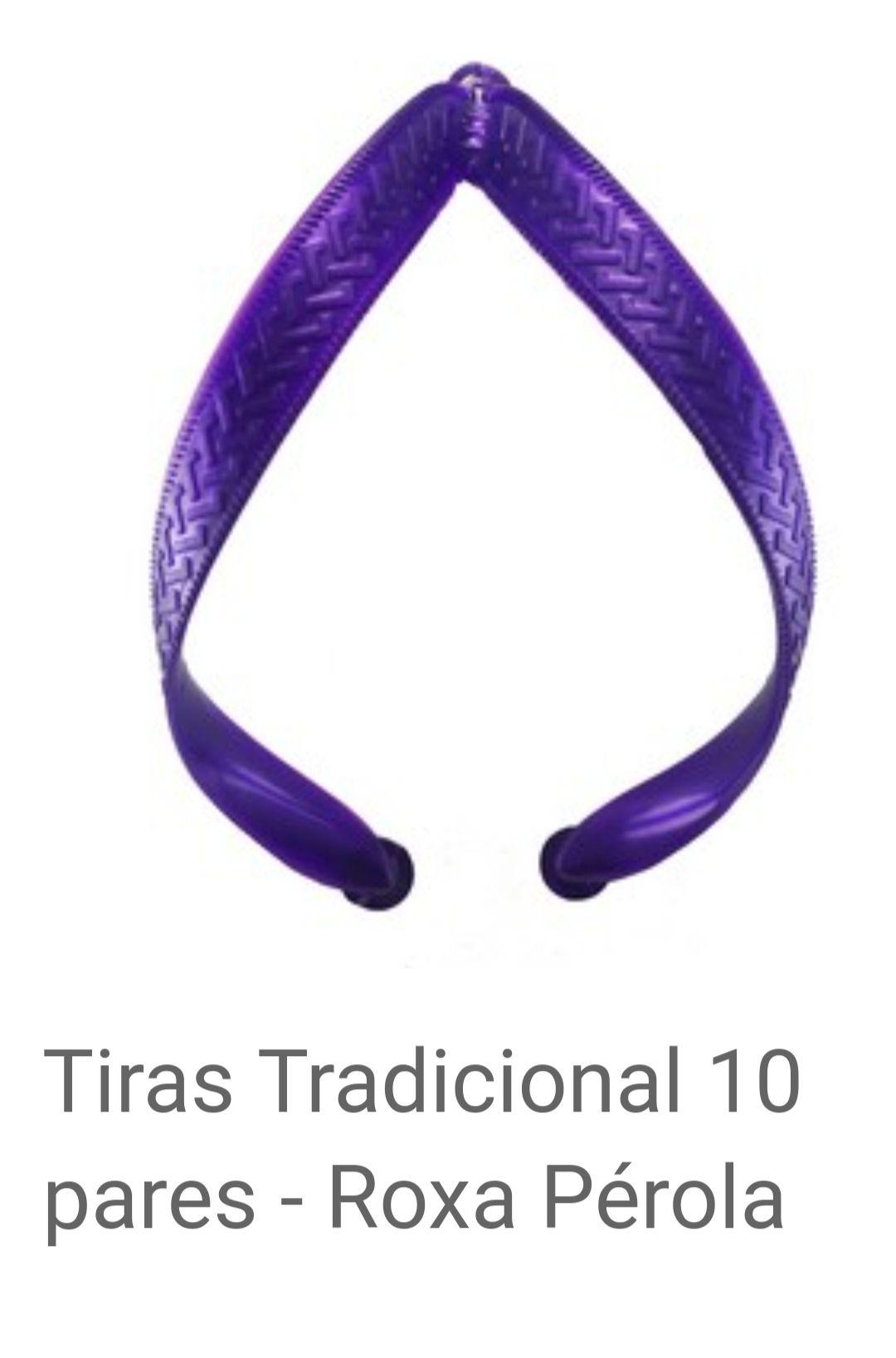 Tiras Tradicional Roxo Pérola com 10 pares