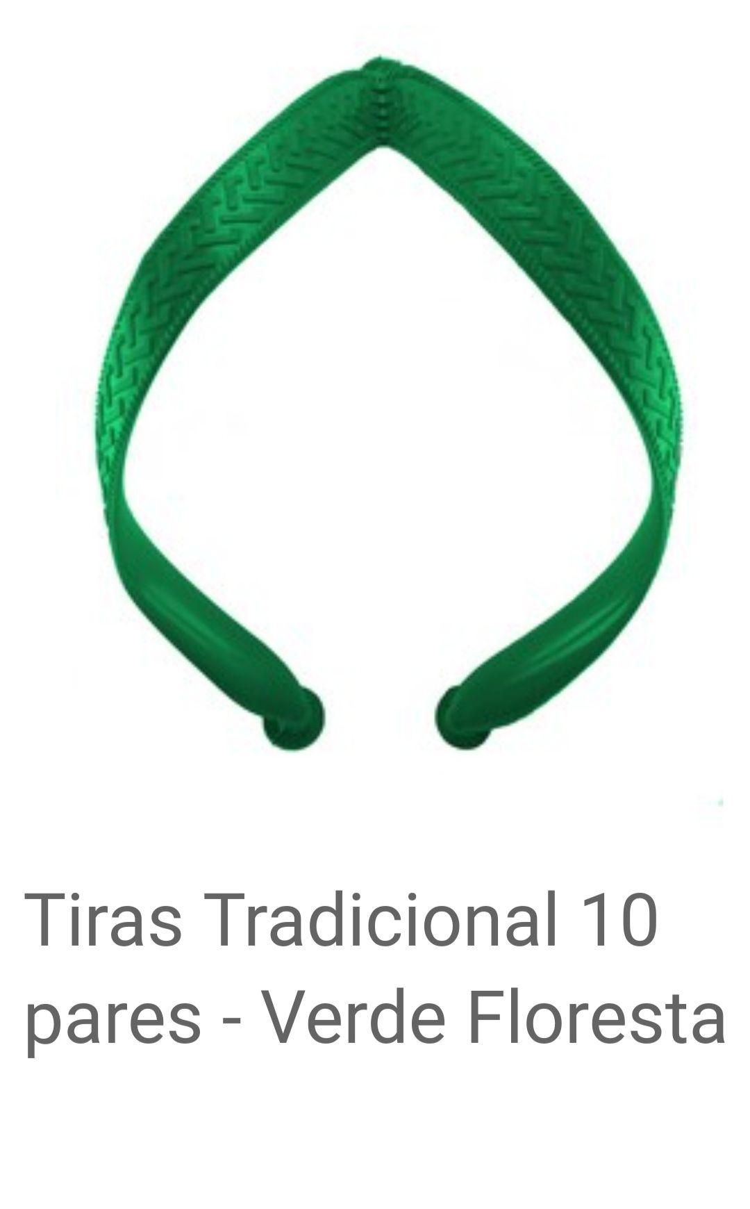 Tiras Tradicional Verde Floresta com 10 pares