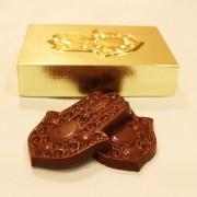 Chocolate Símbolo Hamsá em Relevo Ano Novo Judaico