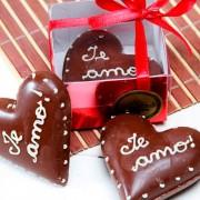 Coração de Chocolate Personalizado