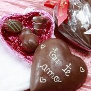 Coração de Chocolate Personalizado 250g