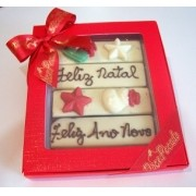 Tablete de chocolate com mensagem