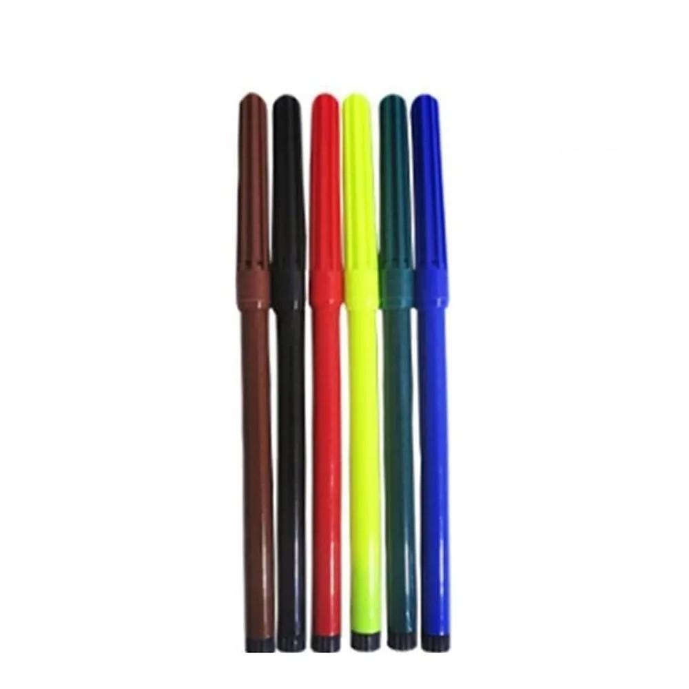 1 jogo canetinhas lavável com 6 cores - leoleo