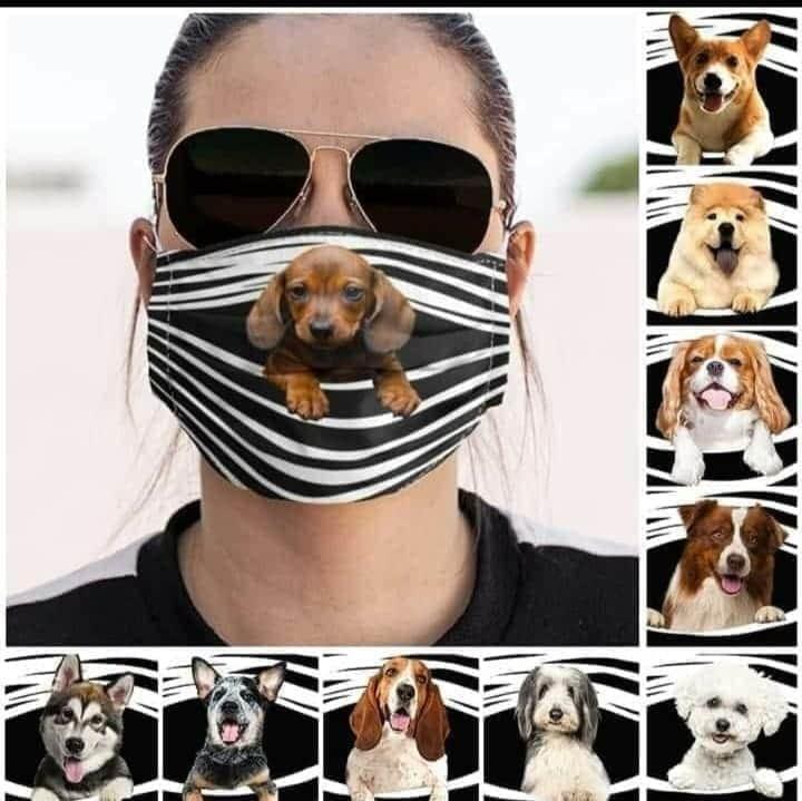 Máscara Personalizada - Coleção 4 Patas - Cachorros