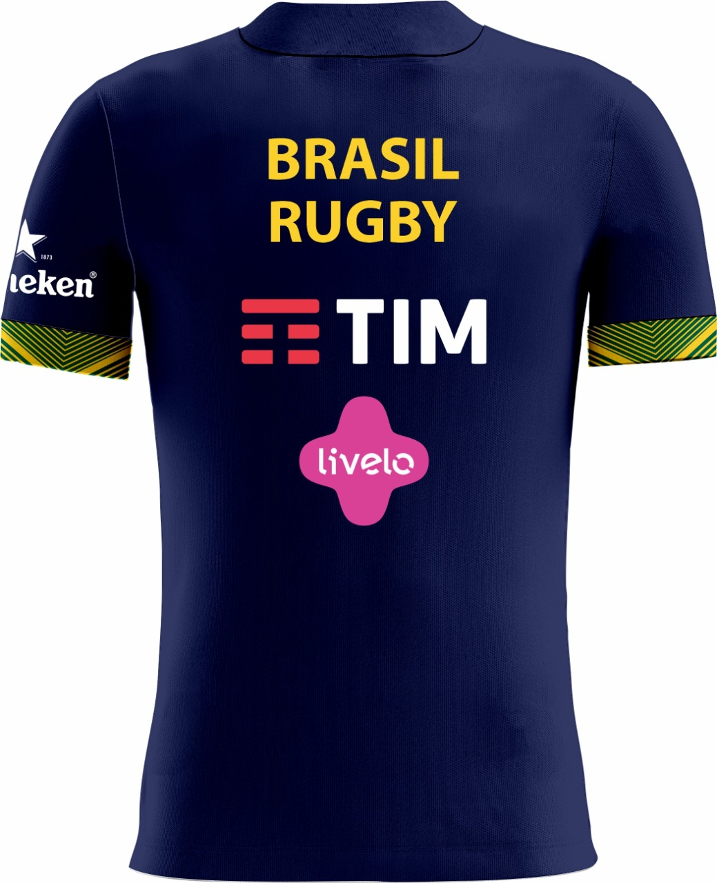 Camisa Fem. Passeio Sel. Brasileira Rugby