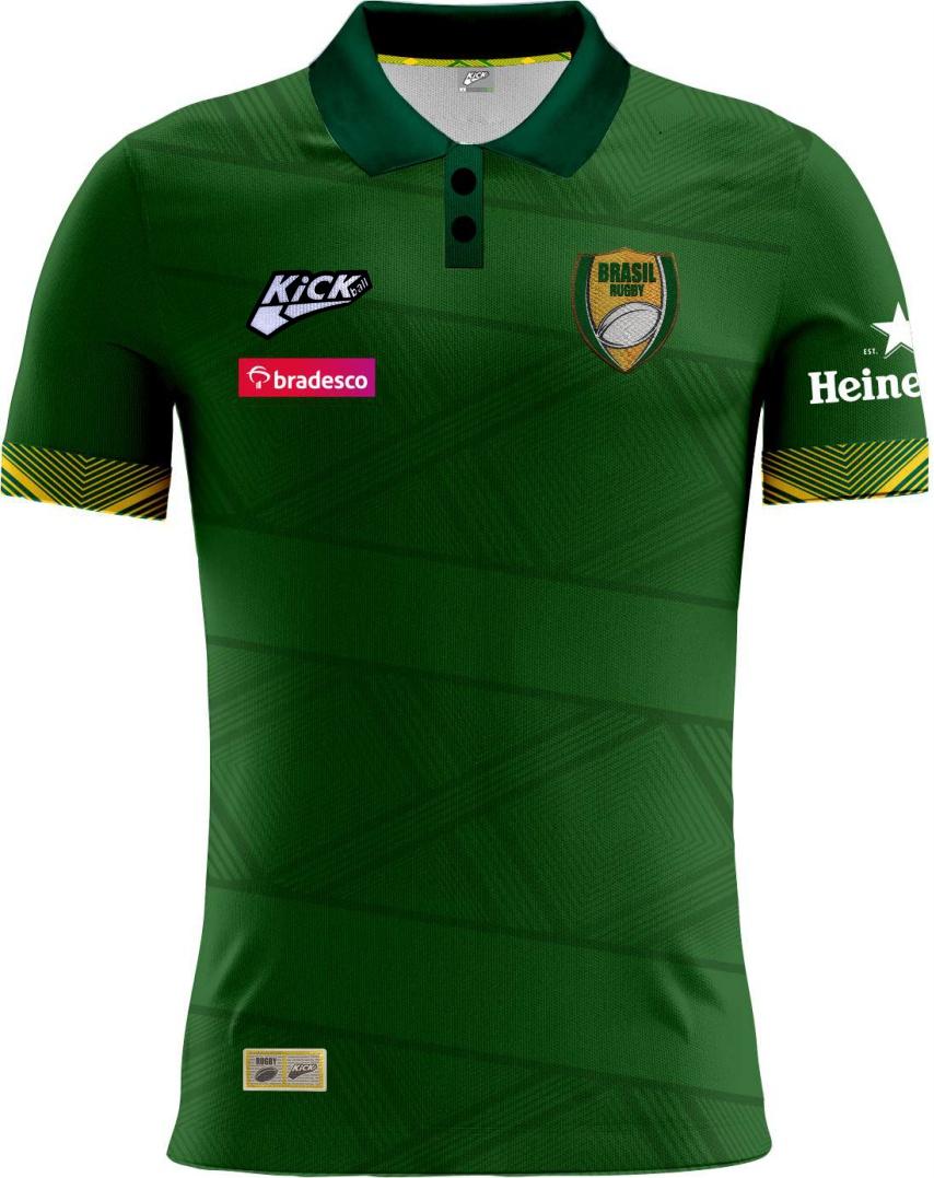 Camisa Fem. Polo Sel. Brasileira Rugby