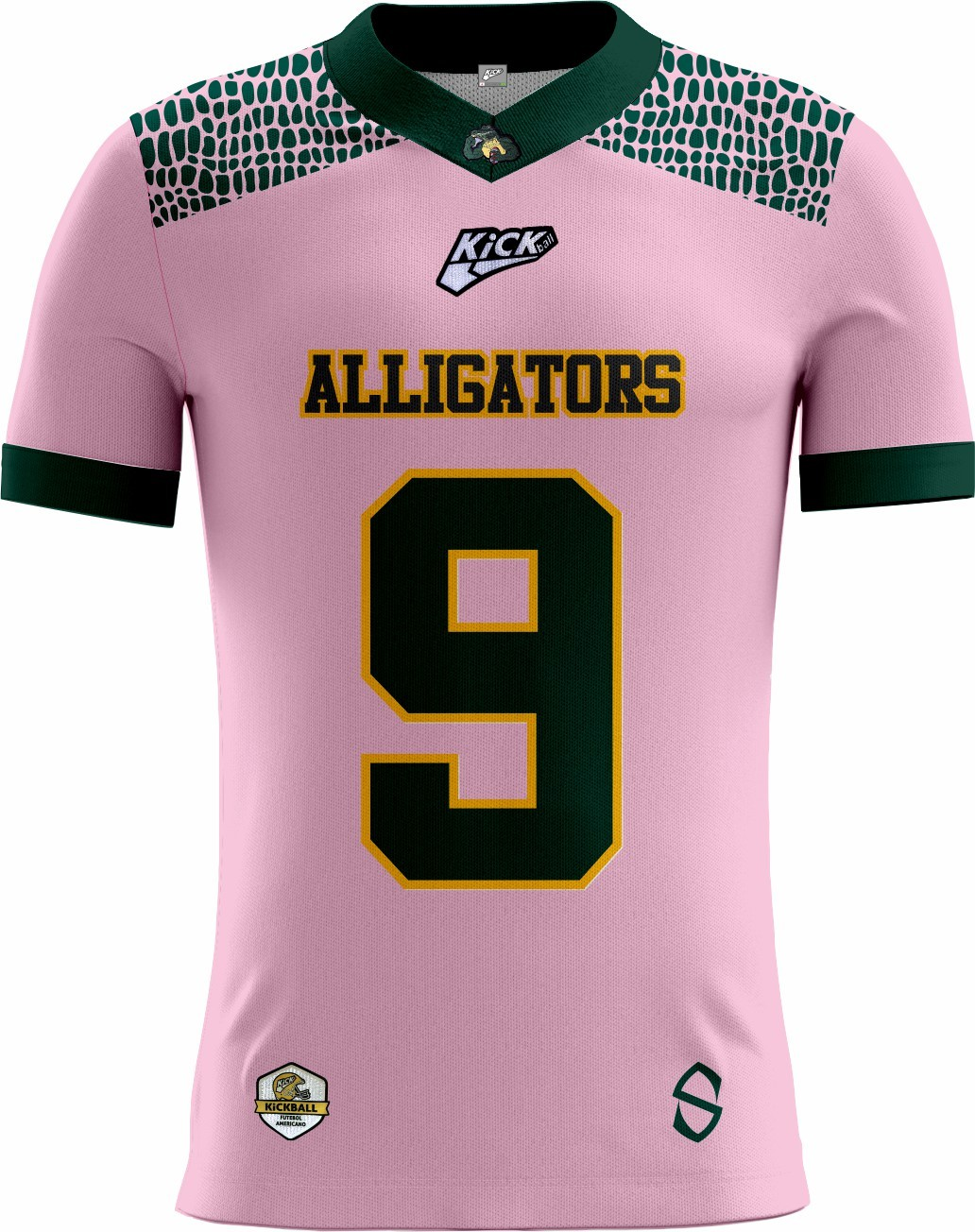 Camisa Of. Alligators Football Tryout Masc. Outubro Rosa