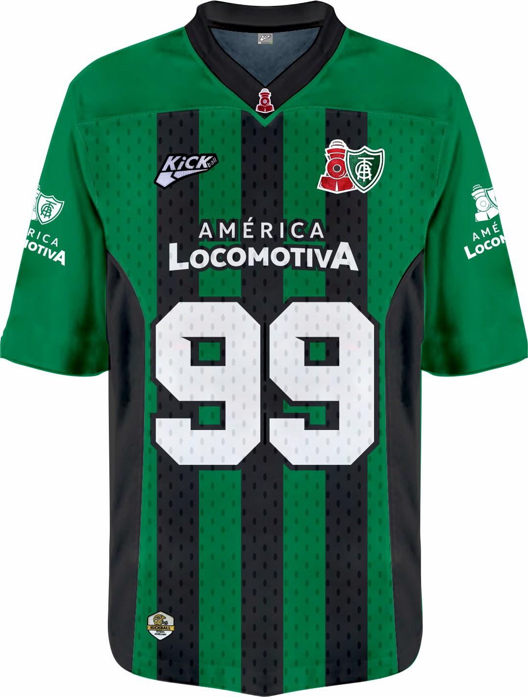 Camisa Of.  América Locomotiva Jersey Plus Inf. Mod1