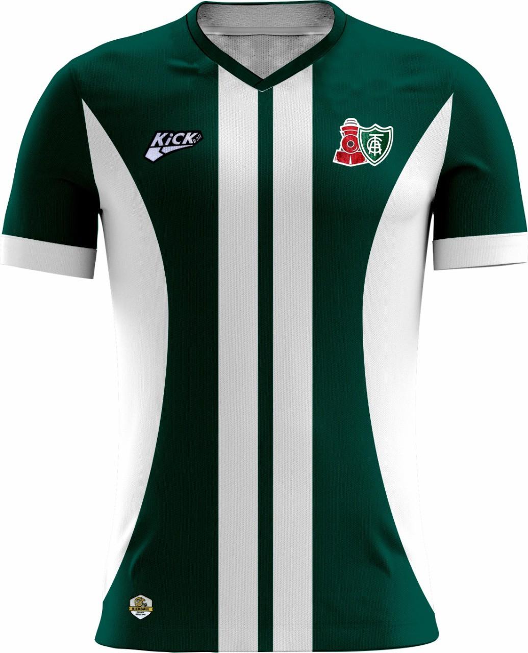 Camisa Of. América Locomotiva Tryout Fem. Mod2