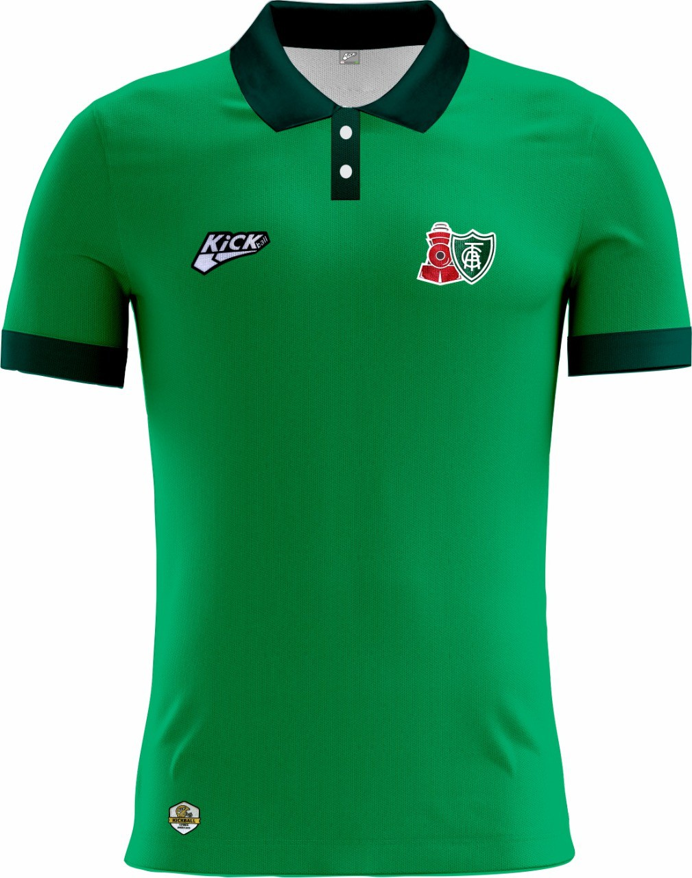 Camisa Of. América Locomotiva Tryout Polo Masc. Mod1