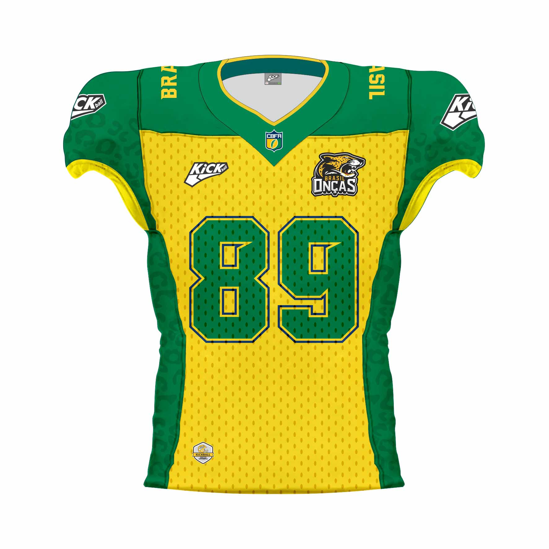 Camisa Of. Brasil Onças Jersey JG1 Fem.