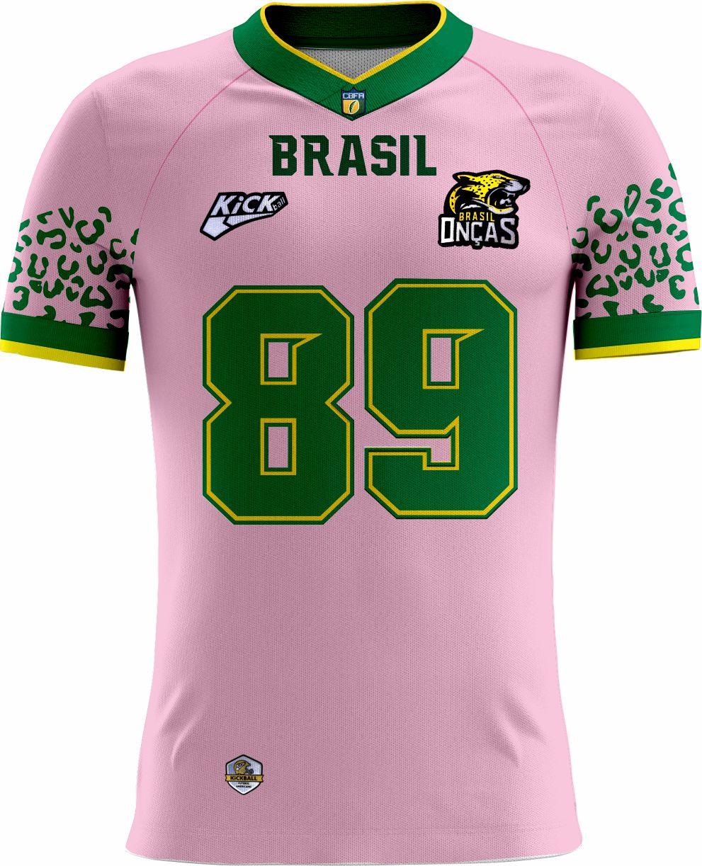 Camisa Of. Brasil Onças Tryout Masc. Outubro Rosa