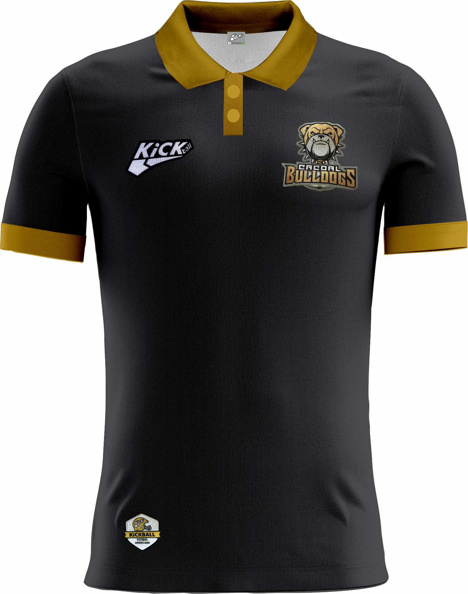 Camisa Of. Cacoal Bulldogs Tryout Polo Masc. Mod1