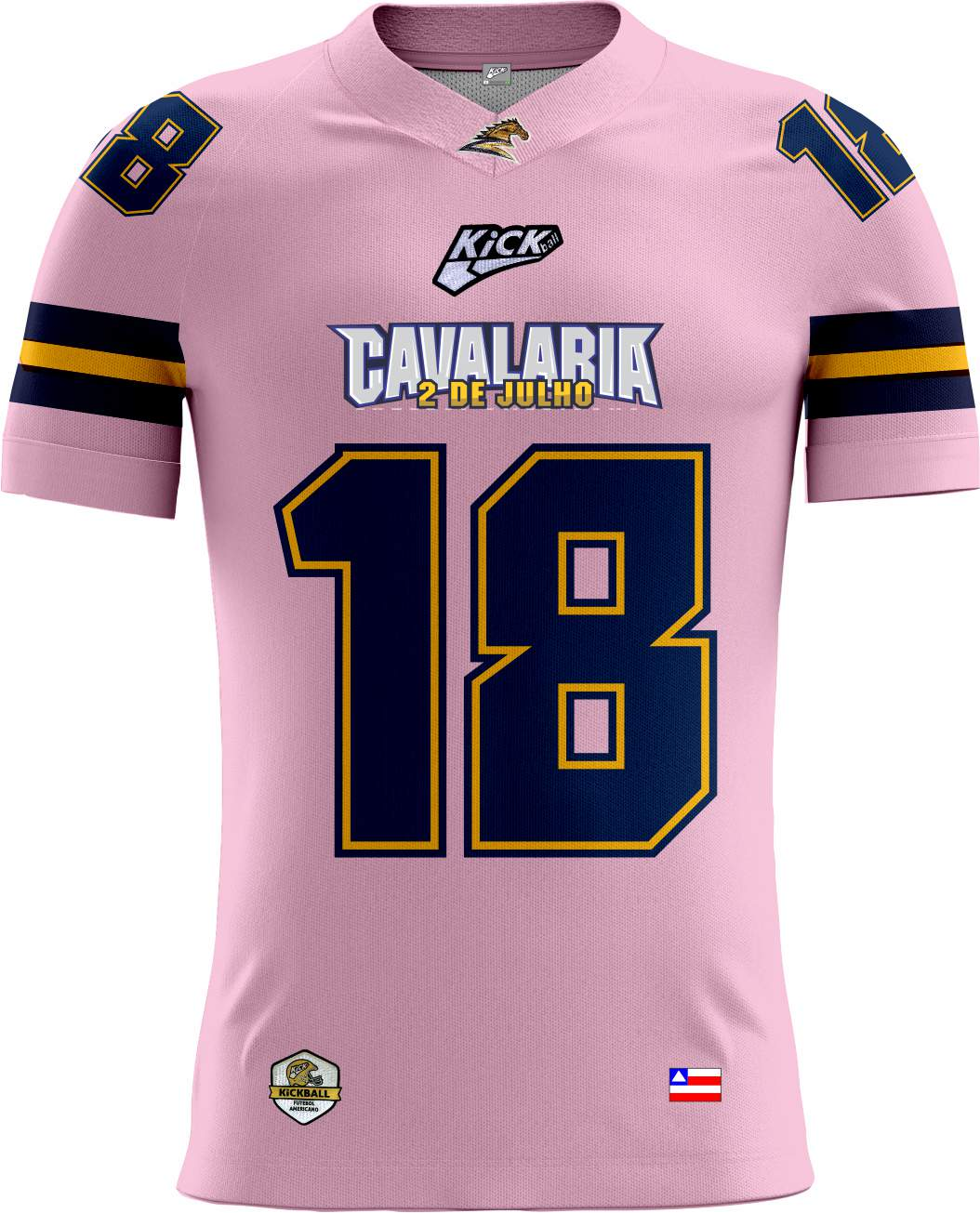 Camisa Of. Cavalaria  F.A. Tryout Masc. Outubro Rosa