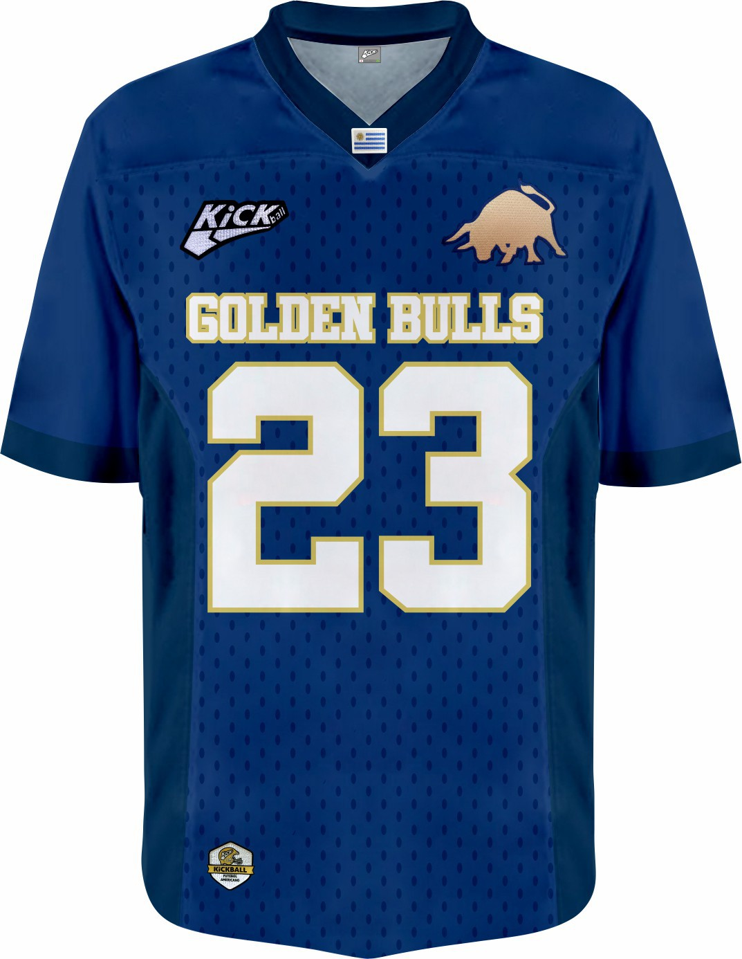 Camisa Of. Golden Bulls Jersey Plus Fem. Mod1