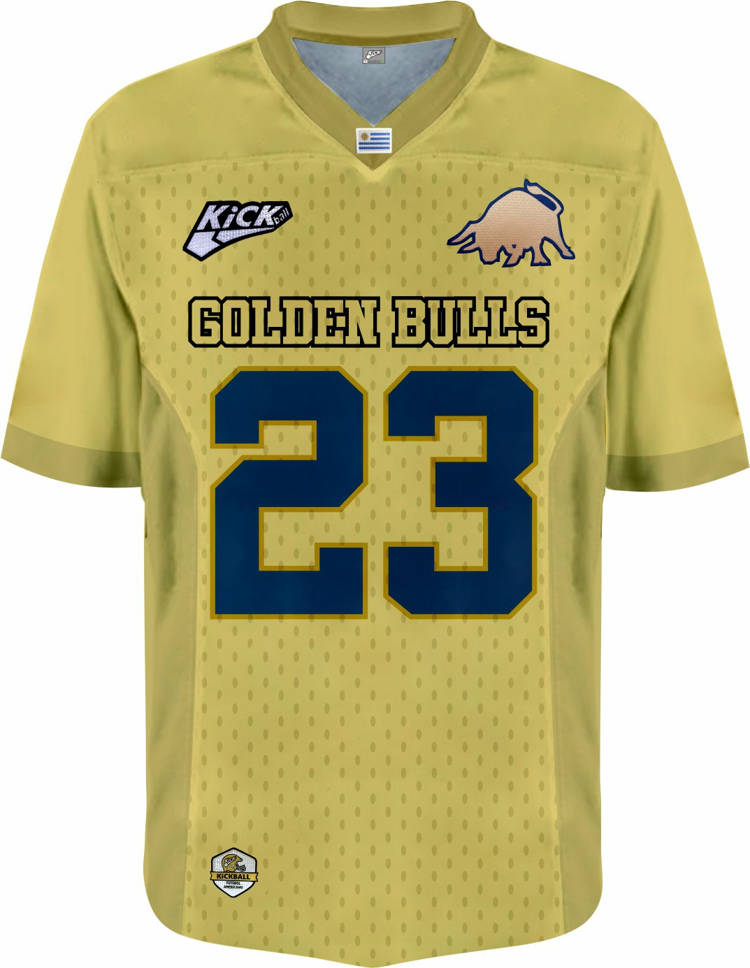 Camisa Of. Golden Bulls Jersey Plus Masc. Mod2