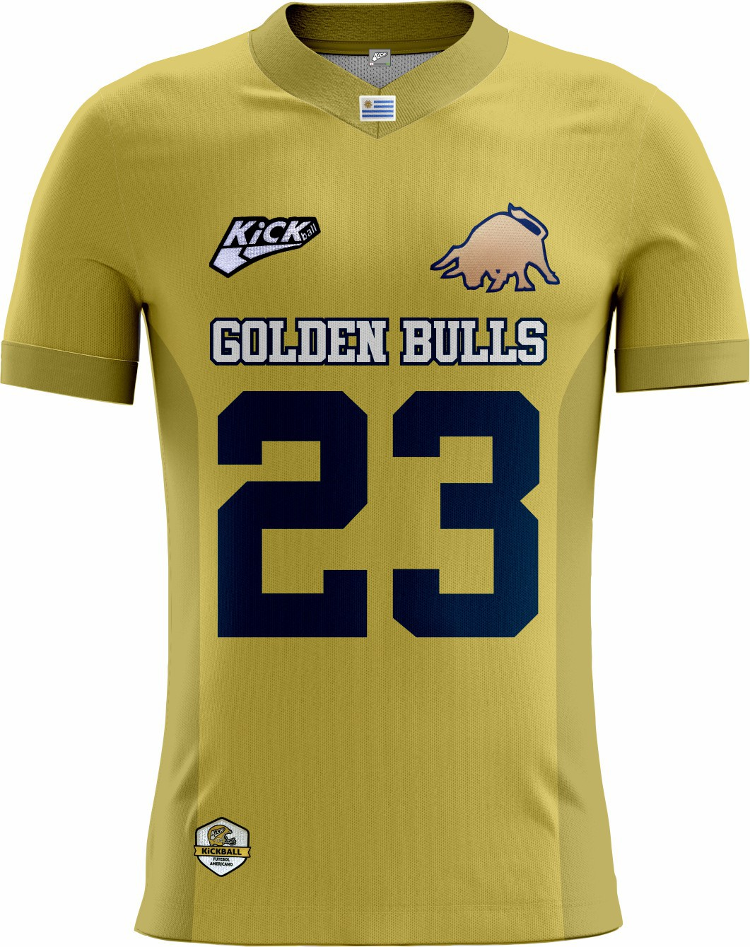 Camisa Of. Golden Bulls Tryout Masc. Mod2