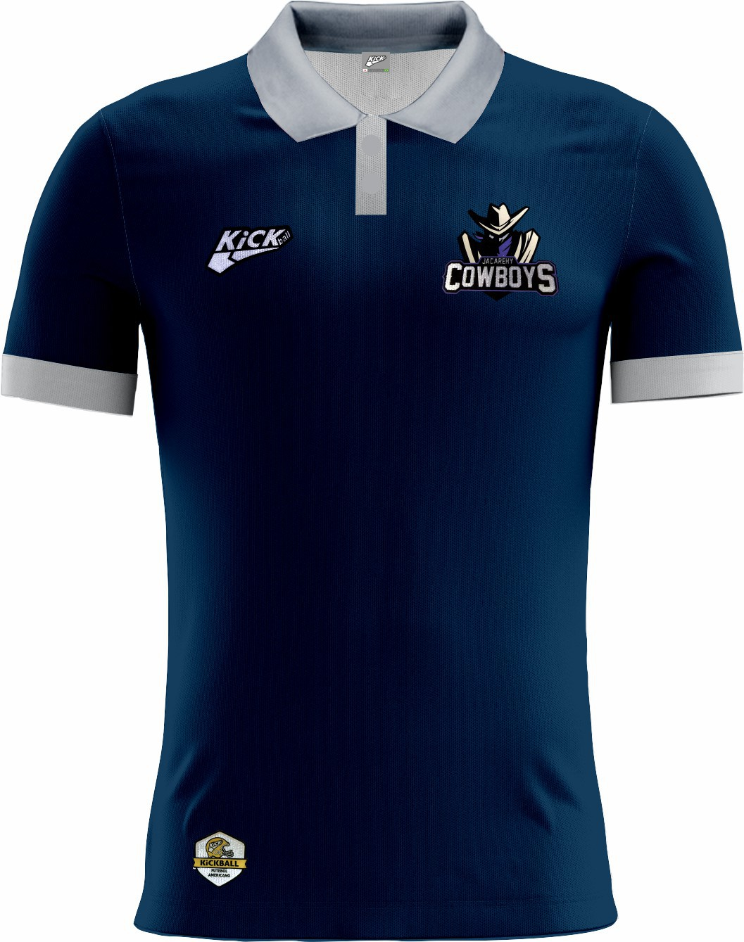 Camisa Of. Jacarehy Cowboys Tryout Polo Masc. Mod2