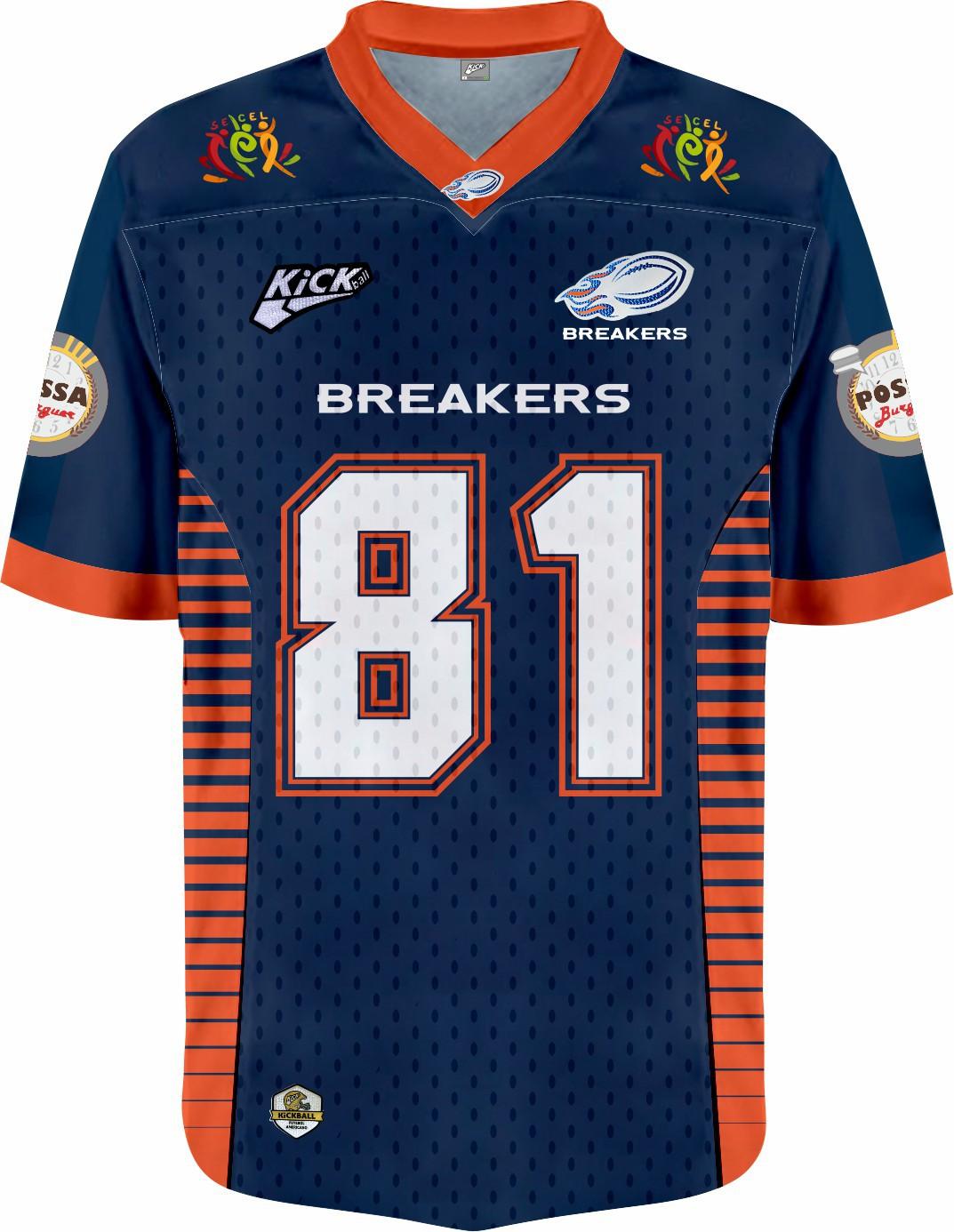 Camisa Of.  Jaraguá Breakers Jersey Plus Inf. Mod1