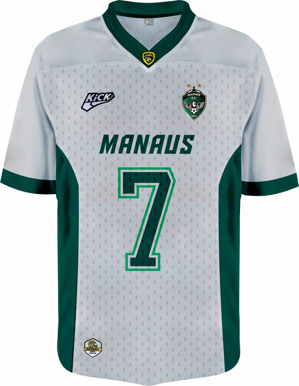 Camisa Of. Manaus F.A. Jersey Plus Inf. Mod2