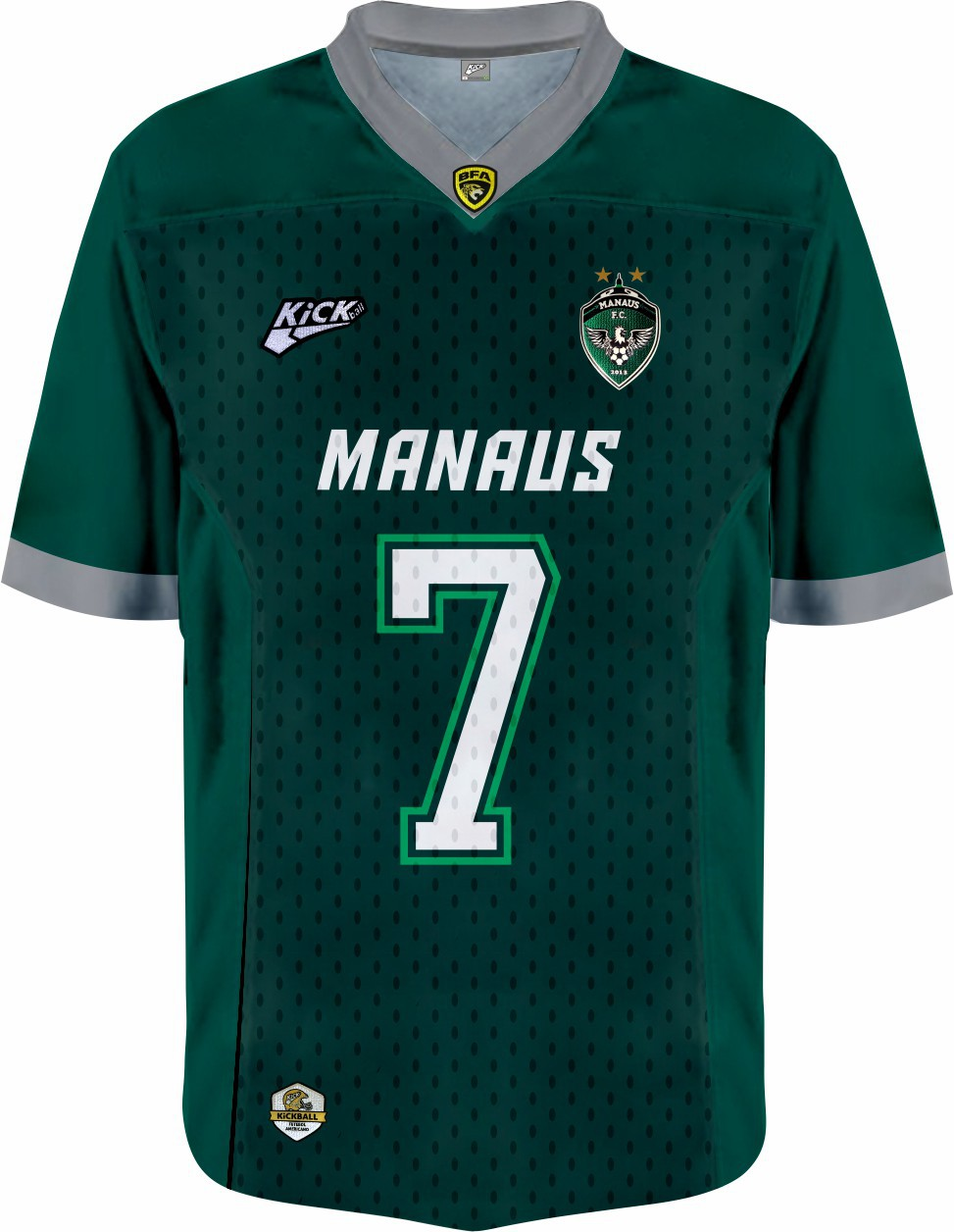 Camisa Of.  Manaus F.A. Jersey Plus Masc. Mod1