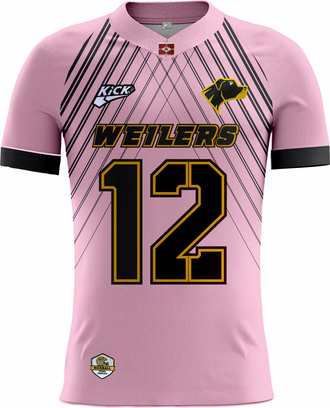 Camisa Of.  Rio Preto Weilers Tryout Masc. Outubro Rosa