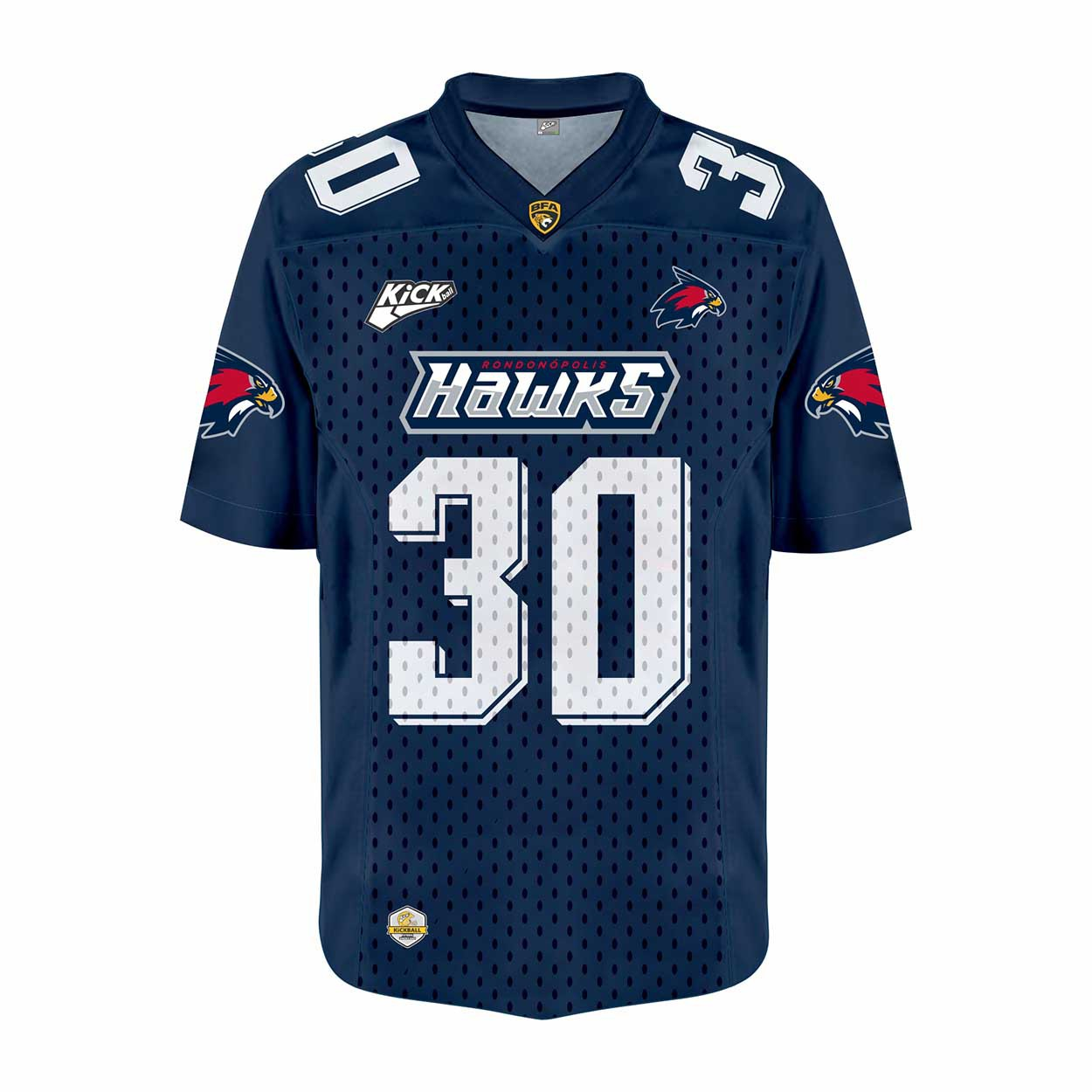 Camisa Of.  Rondonópolis Hawks Jersey Plus Inf. Mod2