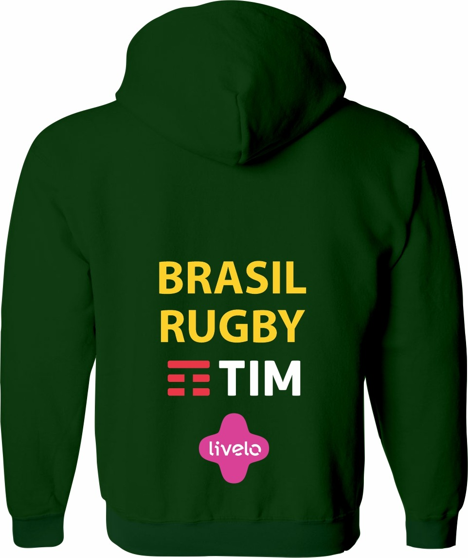 Moletom Fem. Sel. Brasileira Rugby c/ Capuz
