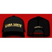(Pre Venda) Bone Trucker Preto Bordado da Zona Norte, Tropa do Goulart!