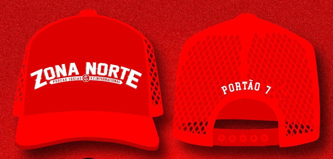 (Pre Venda) Bone Trucker Vermelho Bordado da Zona Norte, Poucas ideias!